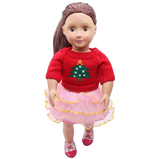New Christmas Costumes /& Hat Fit For 18/'/'American Girl Doll Clothes Girl Gift