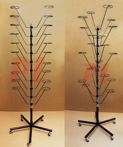 Hat Floor Rack Hanger Retail Store Display Clothes Hang-BLK (Blk Black Floor Fixtures)