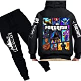 2 piece set digital printing Game fortnite printing fashion sweatshirt long sleeve hoodie pants children clothing Suit for boys