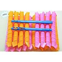 Shentian 24 Lockenwickler weich Flexible Locken Haar schafft Locken Lockig Frisur Lockenwickler (50 cm)