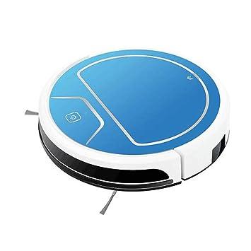 Robot Aspirador con Tanque de Agua Trapeando con Control Remoto Azul: Amazon.es: Hogar
