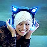 Brookstone Wired Cat Ear Headphones