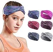 6 Pack Headbands for Women, Sport Headband, Yoga Headband, Spa Headband, Hair Band, Non-Slip Sweat Band Headwr