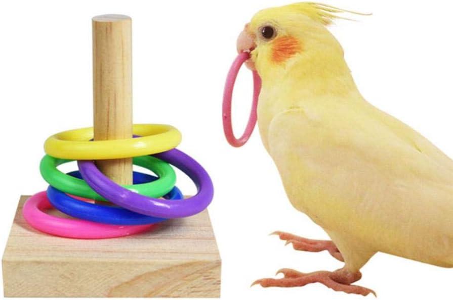 fervory Juguete Anillo Loro Juguetes para Pájaros Truco De Pájaros Juguetes De Mesa para La Educación Jugar Actividad De Juegos En El Gimnasio