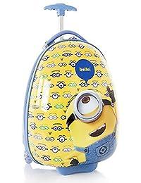 Minions Bello Brand New Classic Designed Multicolored Exclusive Polycarbonate Reversed-Curve Handle Attractive Kids Luggage