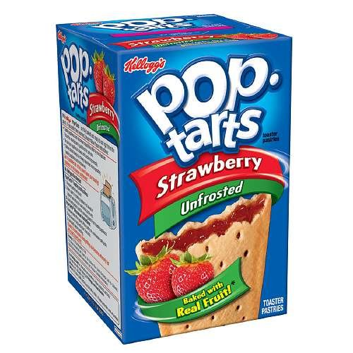 Pop Tarts Toaster Pastries, Unfrosted Strawberry8 ea (Pack of 2)