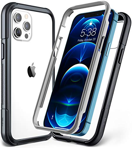 Mkeke Compatible with iPhone 12 Case, Compatible with iPhone 12 Pro Case 6.1 Inch Dual Layer with Shockproof Bumper…