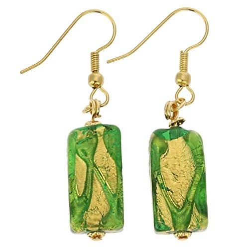 GlassOfVenice Murano Glass Royal Green Block (Green Murano Glass Ring)