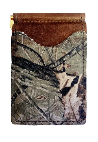 (Back Saver Wallet (Brown With Real Tree Hardwoods)