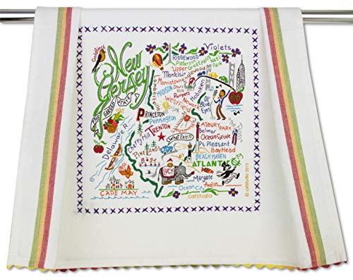 - Catstudio | New Jersey Dish Cloth, Tea Towel or Decorative Hand Towel | Geography Collection | 20