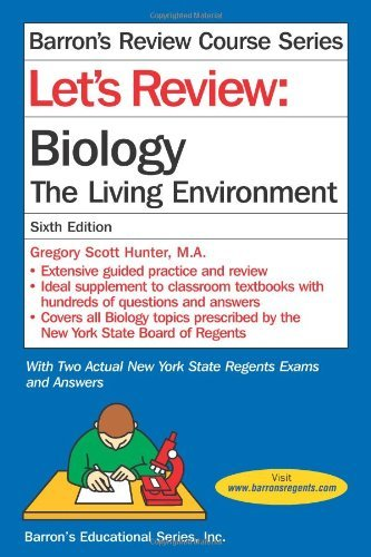Let's Review: Biology, The Living Environment (Let's Review Series) by Hunter, Gregory Scott (September 1, 2013) Paperback