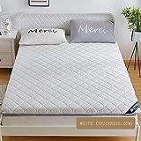 SANSAN Folding Sleep Mattress Topper, Thick Japanese Futon Tatami Floor Mat Sleeping, Premium Mattress Topper White(6 cm) 120x200cm(47x79inch)