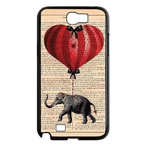 Samsung Galaxy N2 7100 Cell Phone Case Black Elephant on Dictionary A38422675