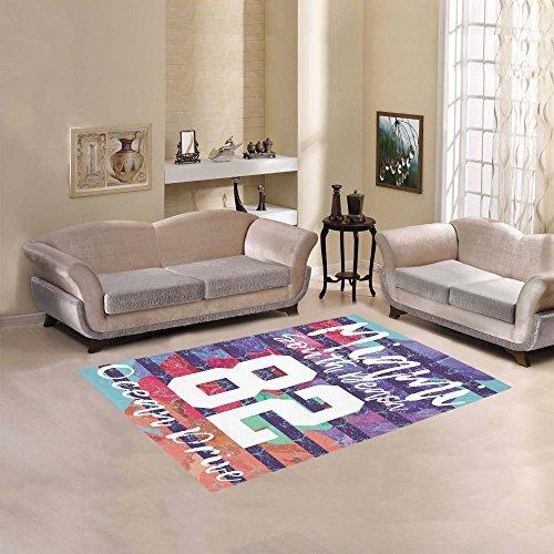 Custom Miami South Beach Art Area Rug Cover Indoor/Outdoor Decorative Floor Rug - Mall South Miami Beach