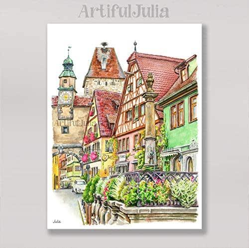 Amazon.com: Rothenburg Ob Der Tauber Germany City Art