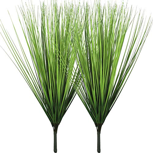 Artificial Plants Fake Wheat Grass Plant Faux Stems Greenery Ferns for Outdoor Indoor Floral Wedding Decor 23.6""
