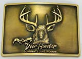 Best Hunter Quality Fans - DEER HUNTER DOMINATE THE WOODS ANTIQUE BRASS FINISH Review