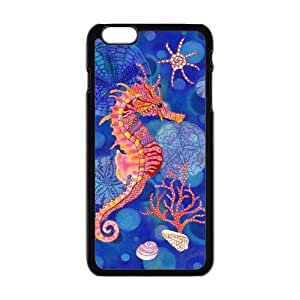 """Danny Store Hardshell Cell Phone Cover Case for New iPhone 6 Plus (5.5""""), Sea Horse"""