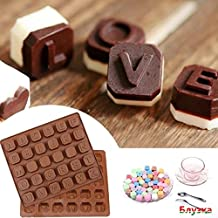 Huphoon Novelty Coffee 26 Letter Word Mousses Ice Cube Candy Soap Cookie Chocolate Mould Good Silicone Material Bakeware