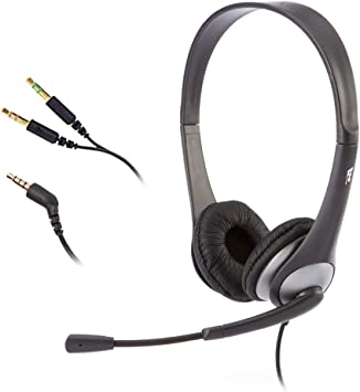 Amazon Com Cyber Acoustics Stereo Headset Headphone With Microphone Great For K12 School Classroom And Education Ac 204 Gold Computers Accessories