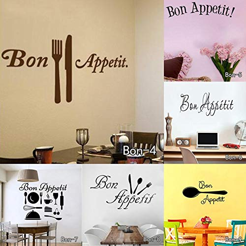 Amazon.com: Chitop Bon Appetit Food Wall Stickers - Kitchen Room Decoration DIY Vinyl Adesivo De Paredes - Home Decals Art Posters Wall Papers (Bon1) ...