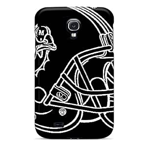Galaxy S4 Case, Premium Protective Case With Awesome Look - Miami Dolphins