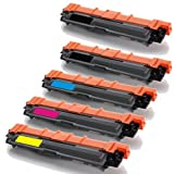 GLB © Brother TN221 TN225 Premium Compatible High Yield Toner Cartridge 5 pack Set(2xBlack , Cyan, Magenta,Yellow) for Brother  TN221BK, TN225C, TN225M, TN225Y, for : Compatible with  Brother  HL-3140, HL-3140CW, HL-3170, HL-3170CDW, MFC-9130, MFC-9130CW