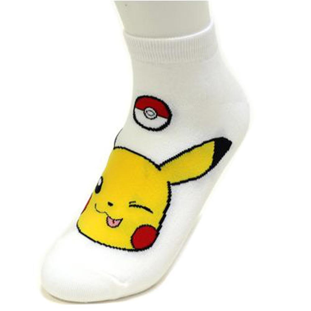 Boy's 6pk Low-Cut Socks Pokemon Go Meowth Snorlax Pikachu Ivysaur Charmander Character Women's Ankle Socks / Socks Gift by Small luxury socks factory (Image #3)