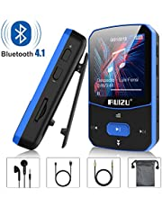 MP3 Player, RUIZU 8GB Clip MP3 Players with Bluetooth 4.1, Portable Mini HiFi Lossless Sound Music Player for Running Workout, with FM Radio Voice Recorder E Book, Expandable up to 128 GB