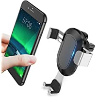 Cell Phone Holder for Car, KOOLEHI Car Phone Mount Air Vent, Auto-Clamping & One Touch for iPhone X 8/8s 7 Plus 6s Plus 6 SE Samsung Galaxy S8 Edge S7 S6 Note 8 5 and More Smartphone- Silver