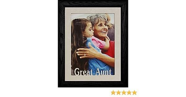 Amazon.com - 5x7 JUMBO ~ GREAT AUNT Portrait Picture Frame ~ Laser ...