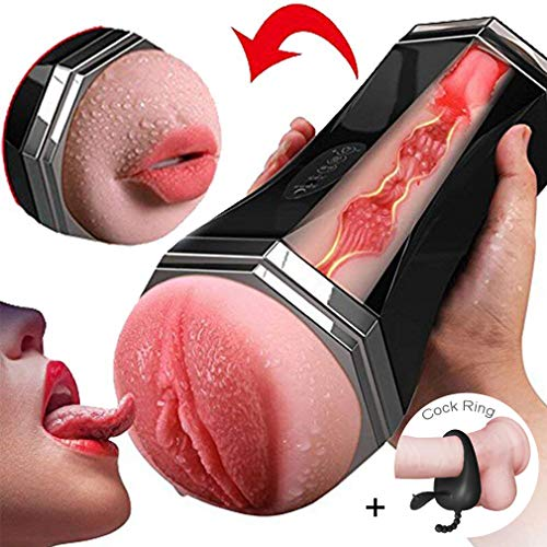 Male Mastürbator Silicone R-ealiStǐc Mouth with Tongue and Teeth Male Mastürbator Oral Sexczx Blowjob Pocket Adǔlt Toy Sexczx Products for Men,as Picture (Best Of The Best Blowjobs)