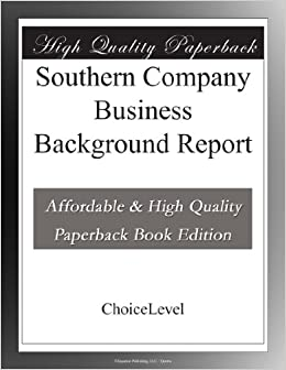 Southern Company Business Background Report