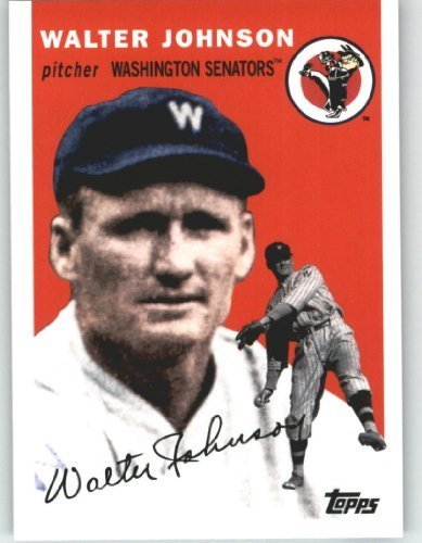 2010 Topps Series 2 Specialty Insert: Vintage Legends Collection Baseball Card #VLC8 Walter Johnson ( On Historic / Classic Card Design ) Washington Nationals - MLB Trading Card