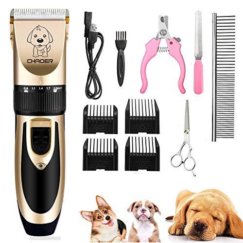 🥇 Eyeleaf Cortapelo para Perro – Recargable Profesional Cortapelos para Mascotas Perros Gatos