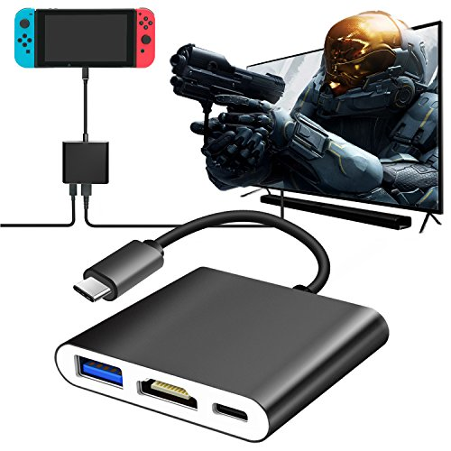 FastSnail TV Adapter for Nintendo Switch, Type C to HDMI Hub Adapter for Nintendo Switch