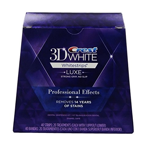 20 Treatments Of Teeth Whitening Kit CREST 3D White Luxe Whitestrips Professional Effects