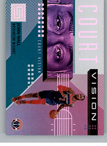 2018-19 Status Court Vision Aqua Basketball #2 John Wall Washington Wizards Panini Fat Pack Exclusive Parallel NBA Trading Card ()