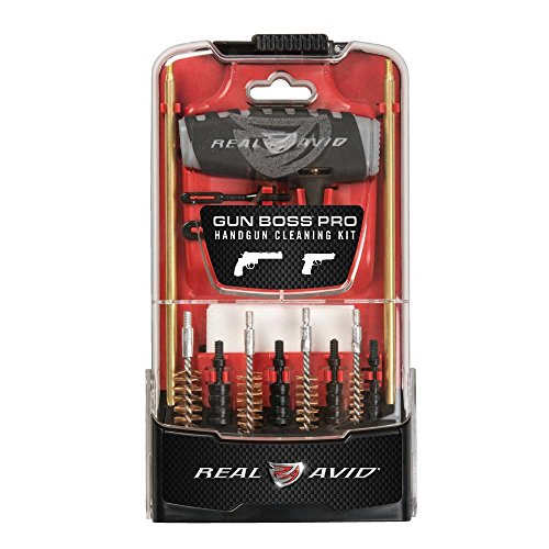 Real Avid Gun Boss Pro Handgun - .45, .44, .40, .357, .38, 9MM, .22 caliber handgun cleaning kit (Best 9 Shot 22 Revolver)
