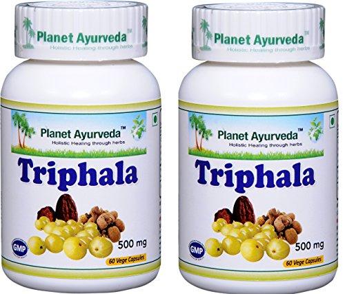 Planet Ayurveda Triphala, 500 Mg Veg Capsules, 2 Bottles by Planet Ayurveda