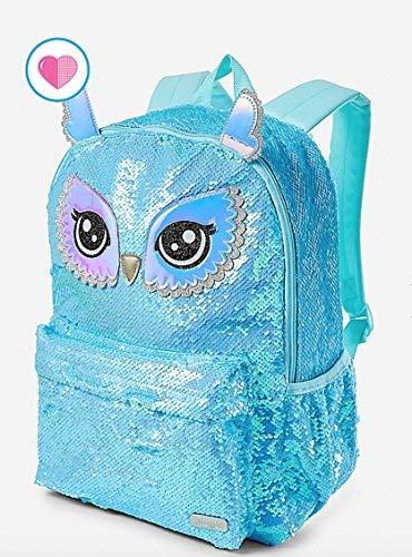 Justice Owl Flip Sequin School Backpack