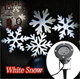 Your Supermart Christmas Projection Lights Led Projector Light Waterproof Landscape Snowflake Spotlight For Christmas House Holiday Party Wall Decoration