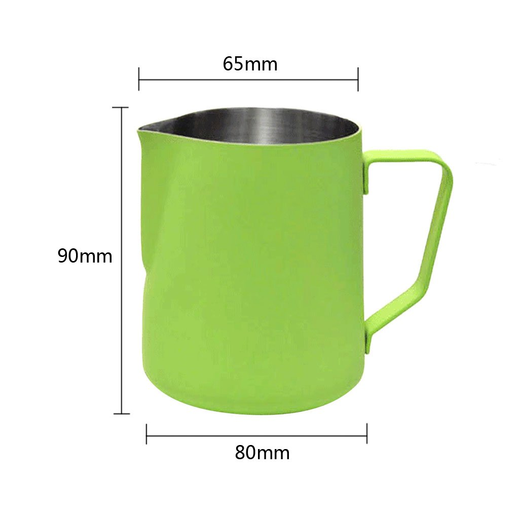 LOVIVER 350ML Thick Stainless Steel Coffee Frothing Milk Latte Art Jug Pitcher Green by LOVIVER