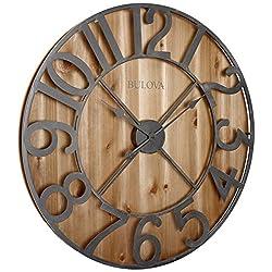 Bulova Silhouette Wall Clock, Brown