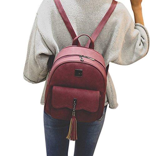 Rosso Viaggio A Della Nappa Tracolla Signora Donne Con Grigio Per Cerniera Symboat Borsa Da Sacchetto 78wTqU6