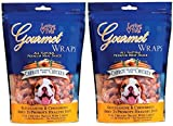 (2 Pack) Loving Pets All Natural Premium Carrot and Chicken Wraps with Glucosamine and Chondroitin Dog Treats, 6-Ounce