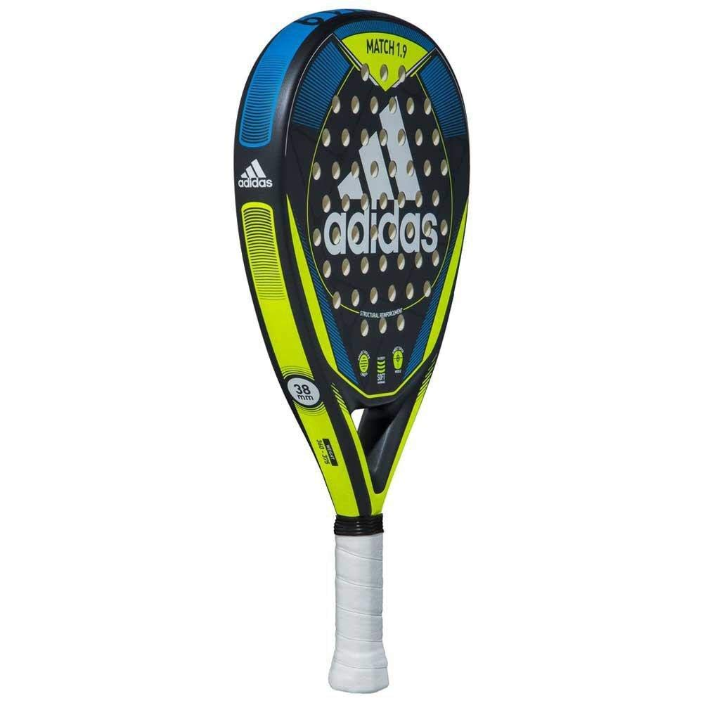 adidas Match 1.9 Matte Blue/Neon Yellow/Black Beginner Padel Racket