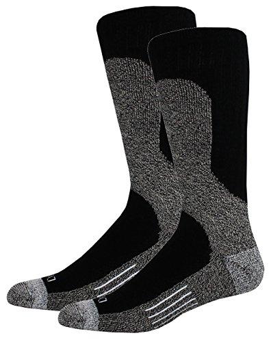 Steel Toe Boot Socks - Dickies Steel Toe Shin Protector Boot Length Crew, Black, 4 Pair