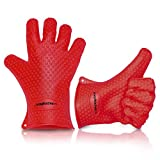 Magikuchen Multipurpose Premium Heat Resistant Silicone BBQ Gloves used for Cooking, Baking, Food Handling, Smoking, Grilling, Cleaning and more!
