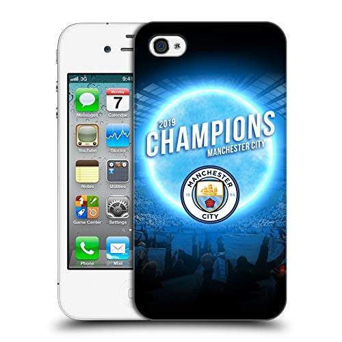 Official Manchester City Man City FC Blue Moon 2019 Champions Hard Back Case Compatible for iPhone 4 / iPhone 4S (Bmo Iphone 4s Case)